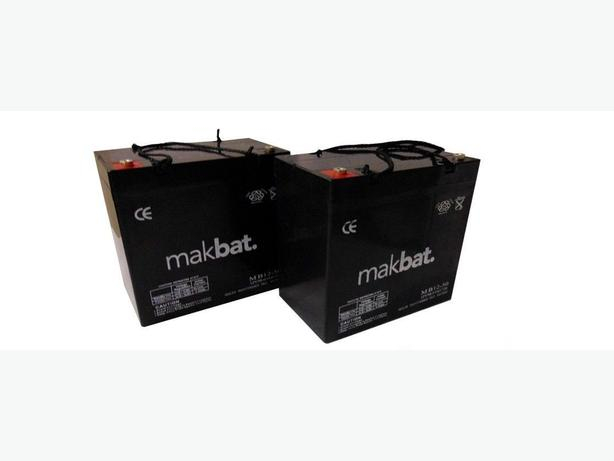 Brand New. 2 x 12V 50AH MOBILITY SCOOTER GOLF BUGGY BATTERIES