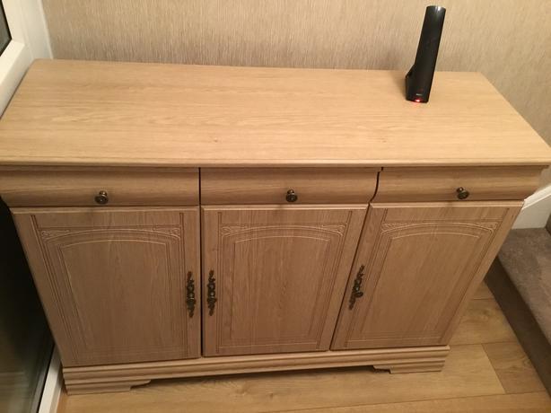 Sideboard tv unit and corner unit limed oak reduced