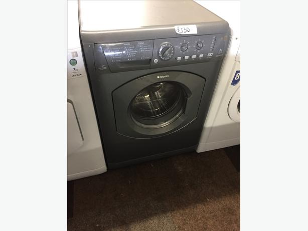 HOTPOINT 7KG GRAPHITE GREY WASHER / DRYER