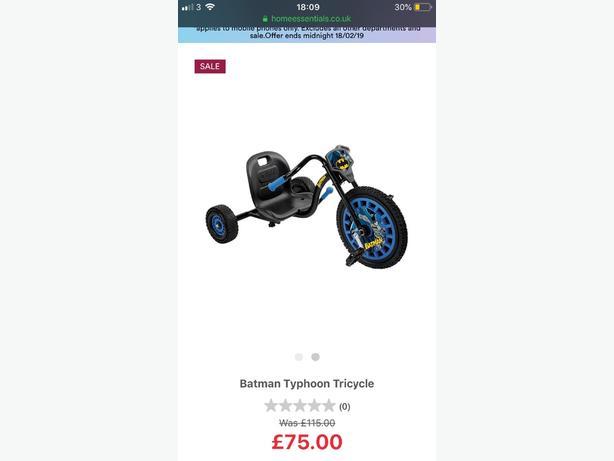  Log In needed £30 · BRAND NEW BATMAN TRIKE FOR SALE