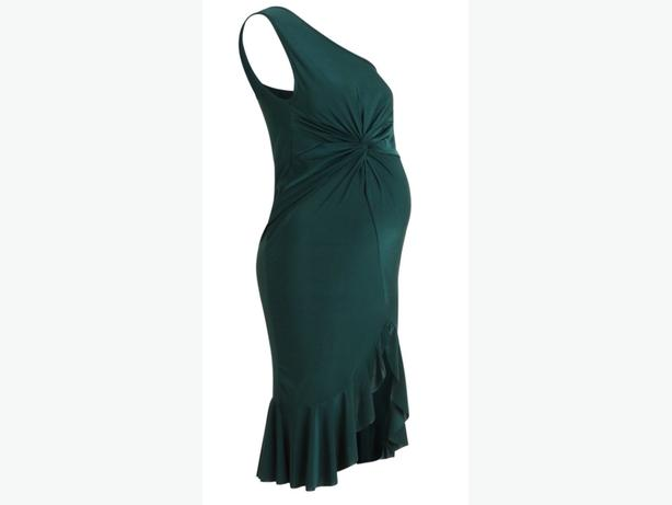 DARK GREEN MATERNITY DRESS SIZE 12