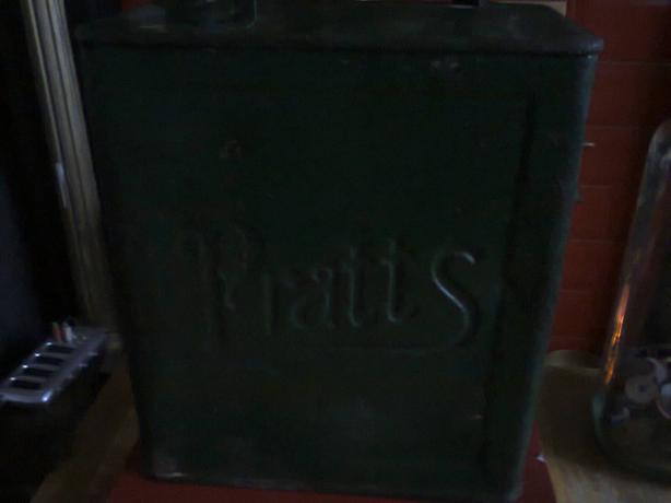 pratts brass topped petrol can