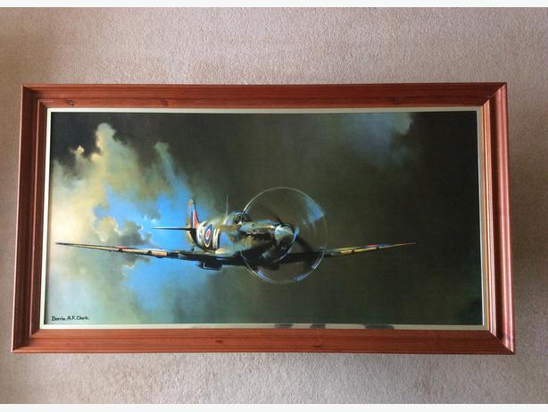 Framed Print of Spitfire ~ Barrie A.F.Clark