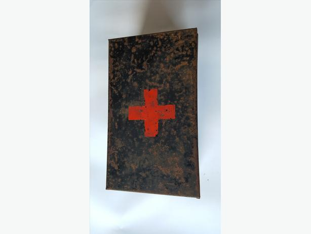 Old first aid tin