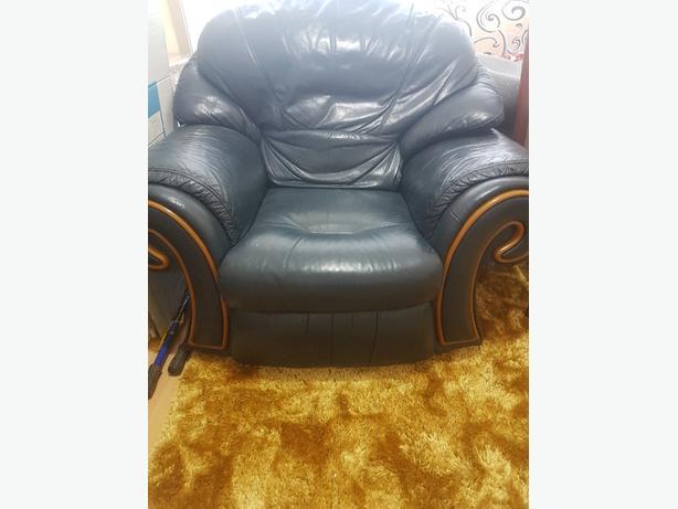 single leather sofa armchair