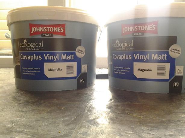 20 LITRES Johnstone'S Trade  Covaplus Vinyl Matt MAGNOLIA BARGAIN !!!!