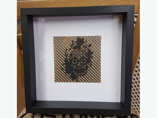 Hand Crafted Sugar Skull Box Frame