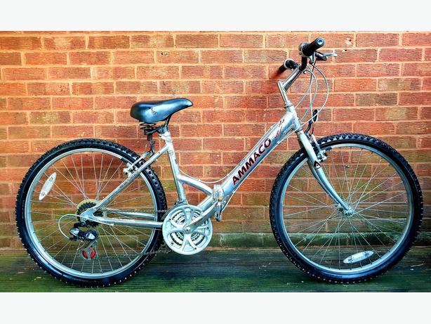 "Ammaco aluminium folding bike,26""wheels,21 speed"
