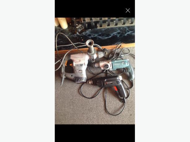 Job lot of drills