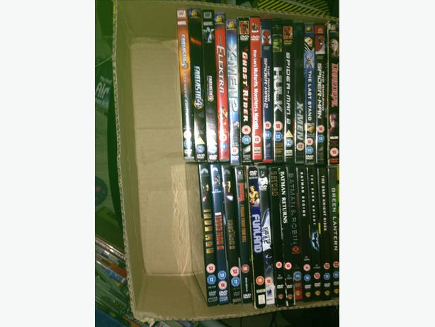 Marvel and DC dvd's