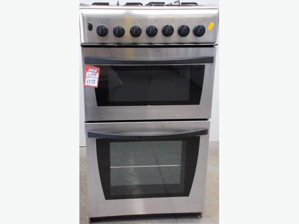 Indesit KD3G21 Gas Cooker. 50cm Wide. Double Doors (15K)