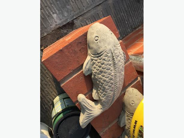 concrete fish ornament