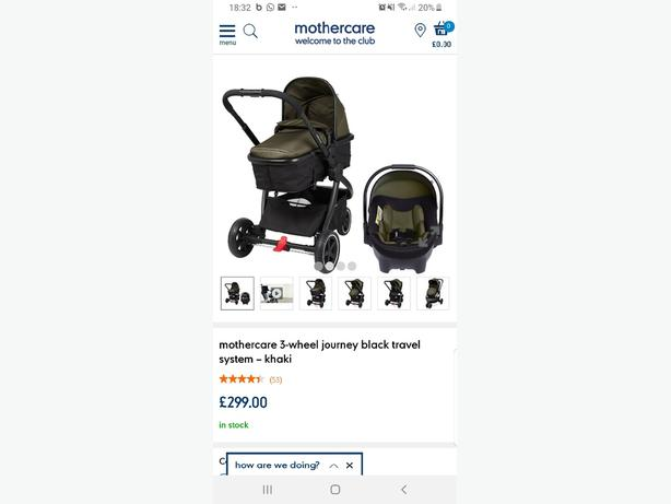 mothercare journey brand new never opened