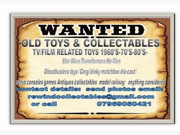 WANTED: Action figures/tv film related toys