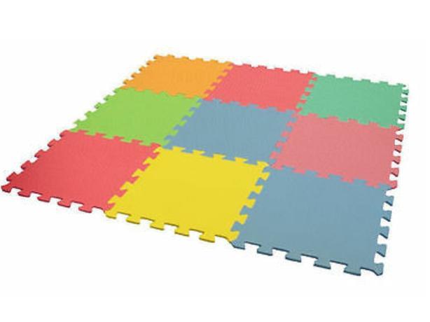 Kingfisher Multi Coloured Interlocking Play Mat Set 9 Piece, 6 packs