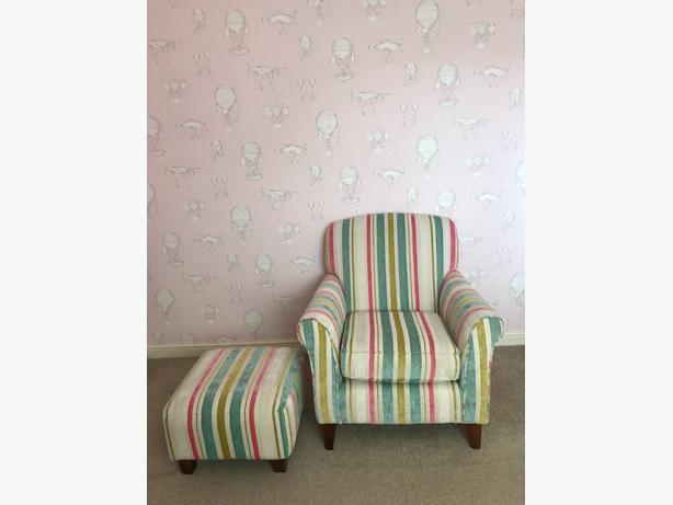 Beautiful Armchair And Footstool From Next Tipton Dudley