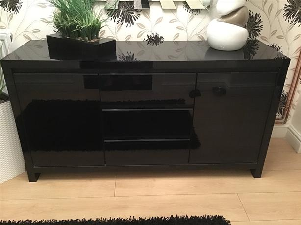 Next Black gloss sideboard