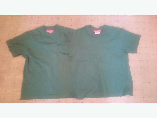 x2  Medium(8-10yrs)junior scouts( green) t-shirts