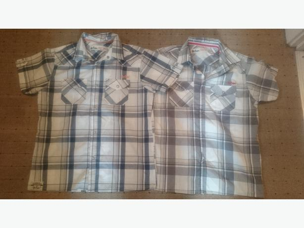 x2 13yrs short sleeve checked Lee Cooper shirts