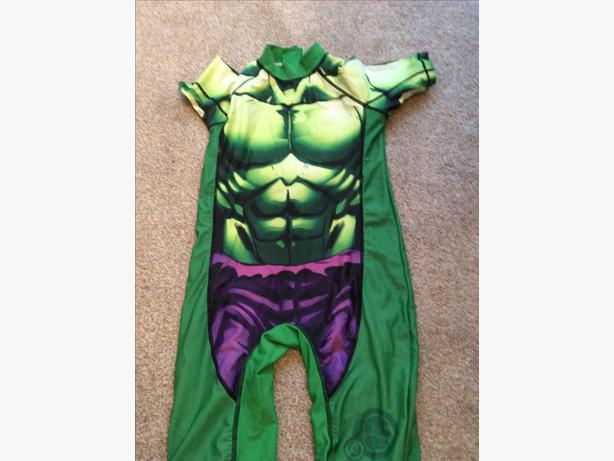 Next Hulk sunsafe swimsuit aged 6-7 years