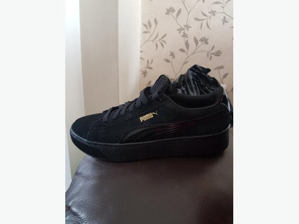 new product 1d351 8fe5f  Log In needed £30 · Womens black suede puma trainers size 6.5