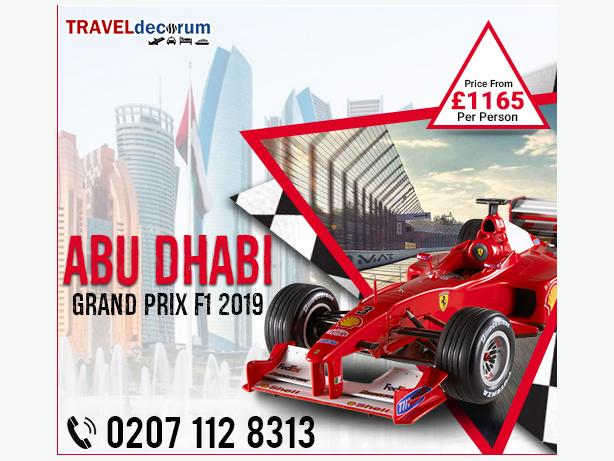 Luxe Abu Dhabi Grand Prix Packages sale