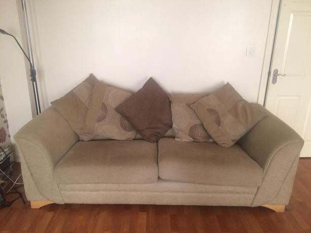 Two FREE Large & Small Brown Sofas