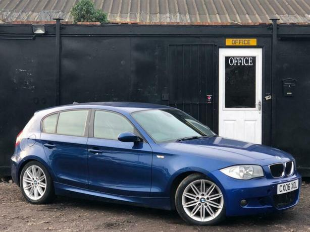 BMW 1 SERIES 120D AUTOMATIC M SPORT + AUTO + LEATHERS + ALLOYS + CAT C *