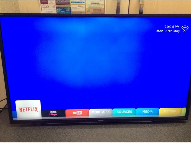  Log In needed £155 · 40 INCH SHARP AQUOS SMART LED TV MODEL 40CFG6352K