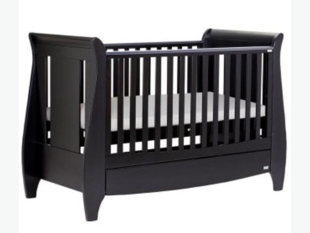 Tutti Bambini Lucas Cot Bed Dark Wood (Expresso) plus mattress