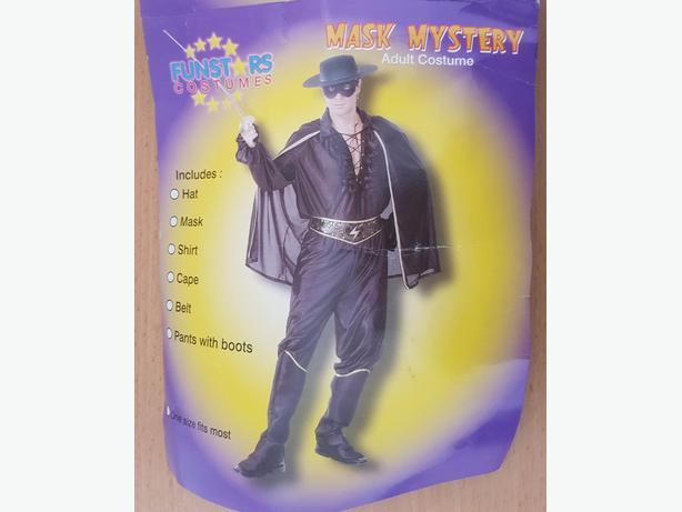 Zorro Adults size Fancy dress costume