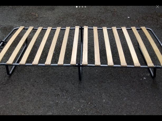 Fold up bed base. Delivery available