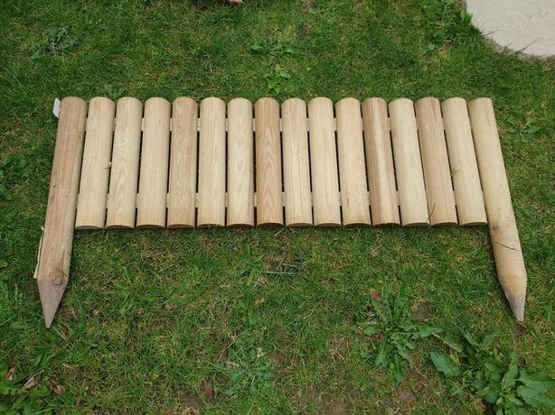 Fence edging, wooden ~ brand new