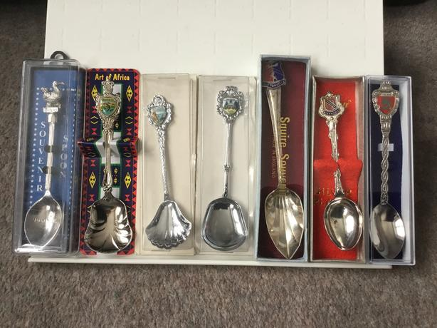 Vintage spoons from around the world