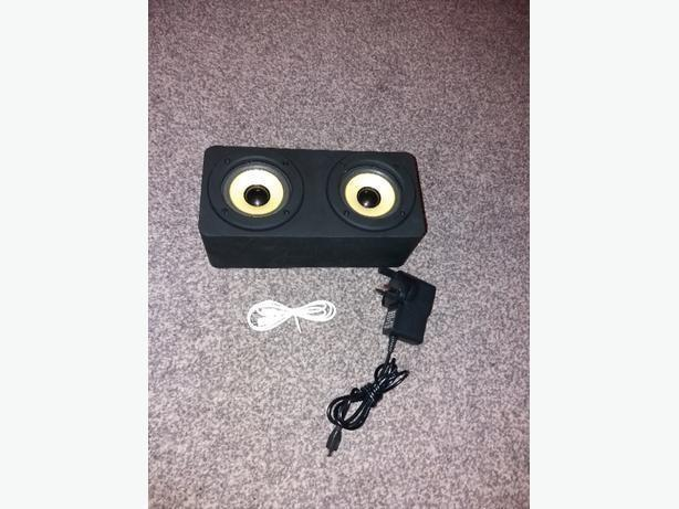 Induction Duo Speaker with Aux built in Rechargeable battery