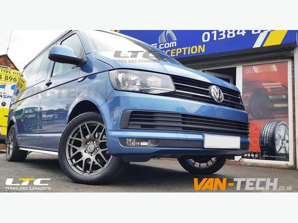 VW T6 Accessories Angular Sportline Side Bars and Alloy Wheels