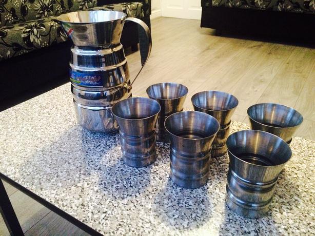 Steel Jug & Cup Set