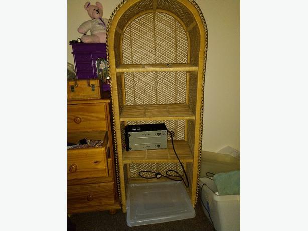 FREE:  wicker shelf unit