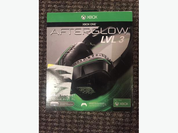 brand new xbox one afterglow lvl3 gaming headset