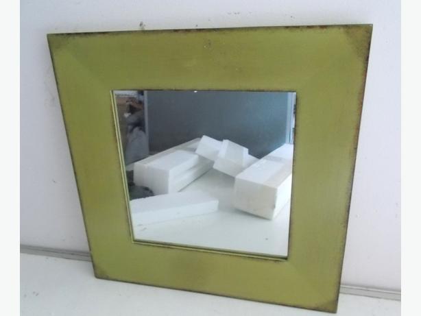 John Lewis Square Green Mirror 40 x 40cm