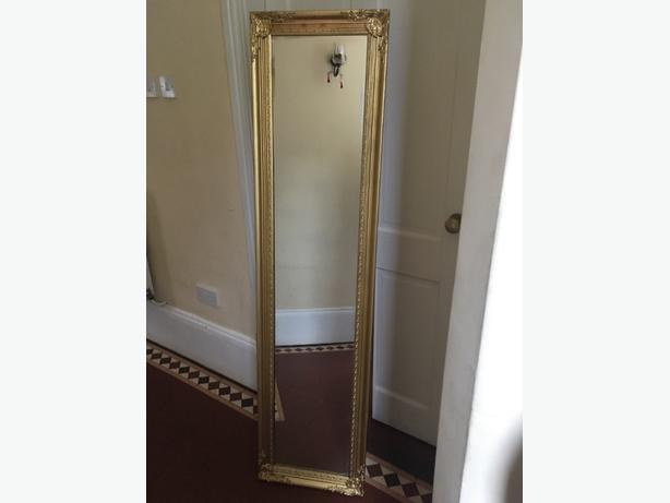 full length gold free standing mirror