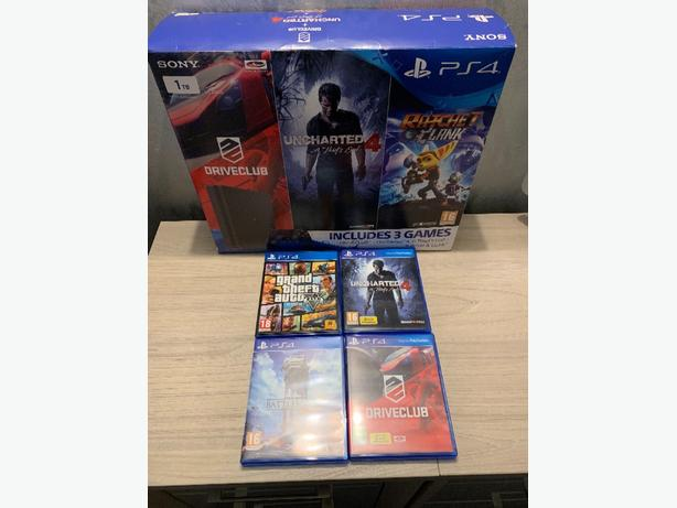 SONY PS4 SLIM (1TB) + GAMES BUNDLE