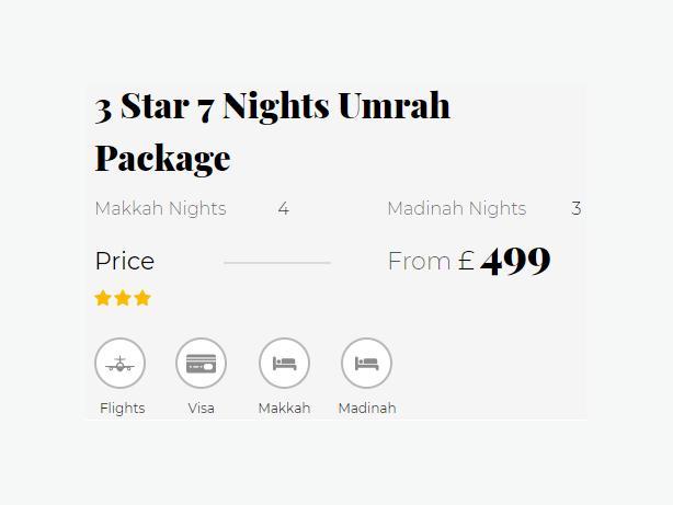 10 Nights 4 Star Umrah Package