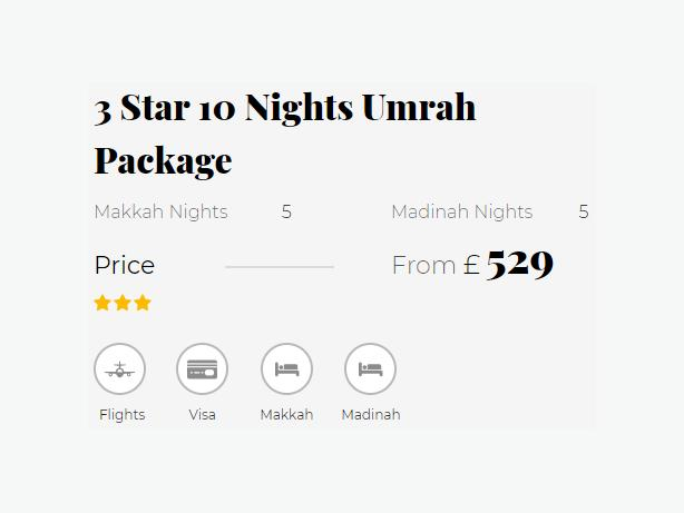 10 Nights 5 Star Umrah Package