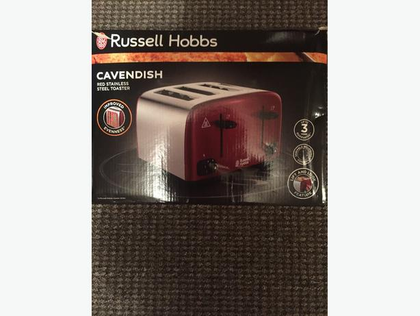 brand new russel hobbs cavendish red 4slice toaster