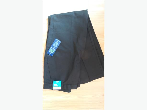 BLACK SCHOOL TROUSERS age 12-13 PLUS FIT - BRAND NEW - NEVER WORN