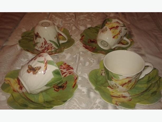 Spode-Floral Haven Cup & Saucer