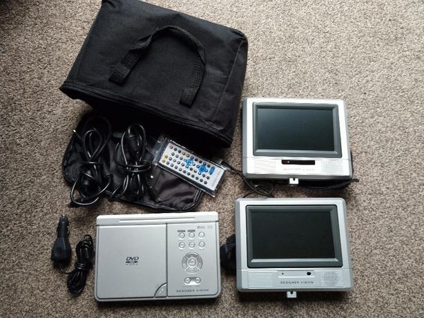 "designer vision dual screen 7"" car dvd player dv-100"