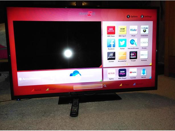 Hitachi 50 inch LED Smart TV with WiFi Apps and FreeviewHD
