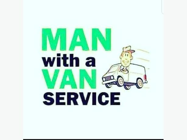man an a van